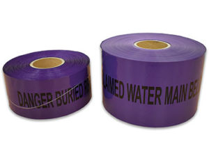 Danger buried reclaimed water main below - detectable warning tape