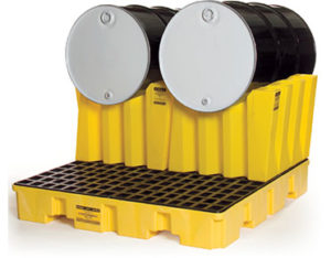 Double horizontal drum stacking system