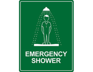 Emergency shower information for workplace safety by Global Spill Control