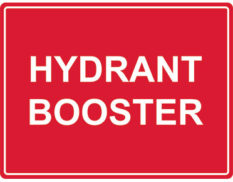 Hydrant booster sign Australian made by Global Spill Control
