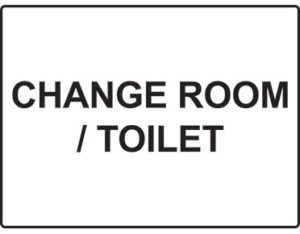 Change room toilet - facilities signage from Global Spill Control