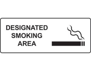 Designated smoking sign - facilities signage from Global Spill Control