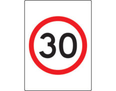 30km speed limit sign - safety signage from Global Spill Control