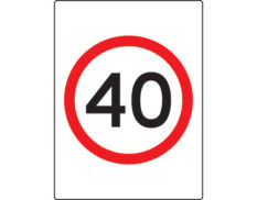 40km speed limit sign - safety signage from Global Spill Control