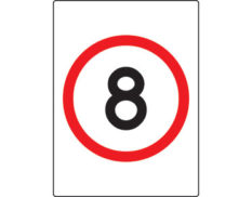 8km speed limit sign - safety signage from Global Spill Control