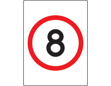 8km Speed Limit Sign Safety Signage From Global Spill Control