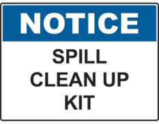 Spill clean up kit sign Australian made by Global Spill Control