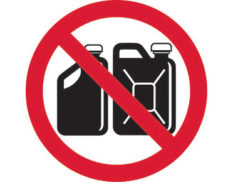 Approved containers prohibition sign is Australian made - Global Spill Control