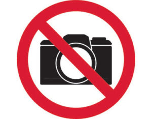 No cameras prohibition sign is Australian made - Global Spill Control