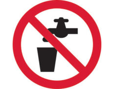 No drinking prohibition sign is Australian made - Global Spill Control