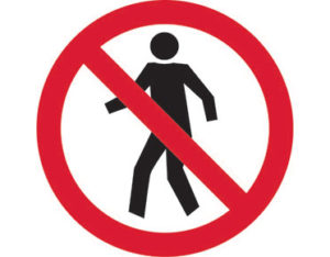 No entry pictogram sign is Australian made - Global Spill Control