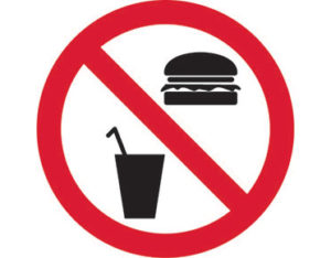 No food prohibition sign is Australian made - Global Spill Control