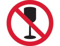 No glass prohibition sign is Australian made - Global Spill Control