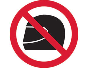 No helmets pictogram sign is Australian made - Global Spill Control