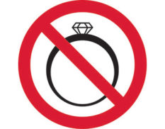 No jewellery prohibition sign is Australian made - Global Spill Control