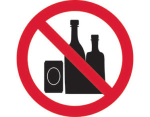 No alcohol pictogram sign is Australian made - Global Spill Control