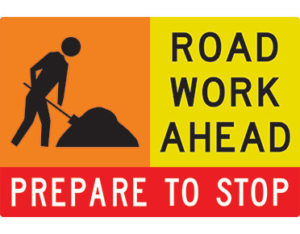 Road work advice sign swing stand Australian Made - Global Spill Control
