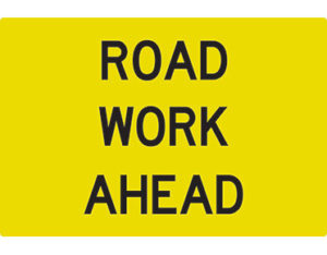 Road work ahead swing stand Australian Made - Global Spill Control