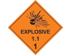 Class 1.1 explosive goods sign Australian Made - Global Spill Control