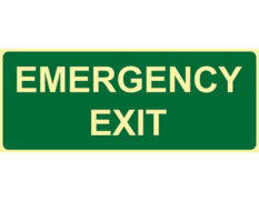 Luminous emergency exit sign by Australian standards