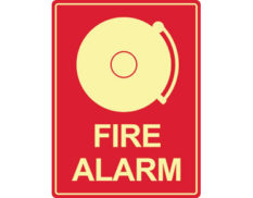 Luminous fire alarm bell sign by Australian standards - Global Spill Control