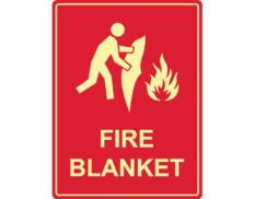 Luminous fire blanket sign by Australian standards - Global Spill Control
