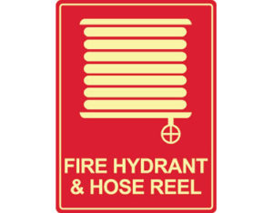 Luminous fire hydrant sign by Australian standards - Global Spill Control