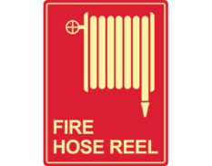 Luminous fire hose reel sign by Australian standards - Global Spill Control