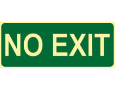 Luminous no exit sign by Australian standards - Global Spill Control