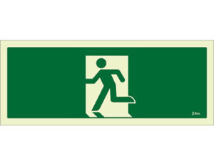 Luminous emergency exit sign by Australian standards - Global Spill Control