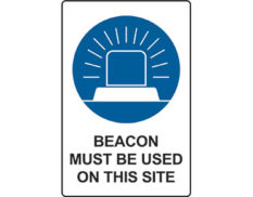Beacon mandatory sign by Australian Standards from Global Spill Control