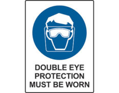 Double eye protection sign by Australian Standards - Global Spill Control