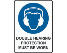 Double hearing sign by Australian Standards - Global Spill Control