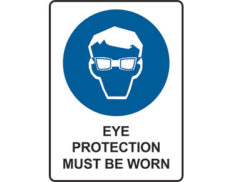 Mandatory eye protection sign by Australian Standards