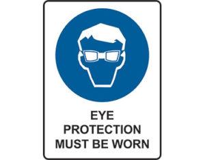 Mandatory eye protection sign by Australian Standards
