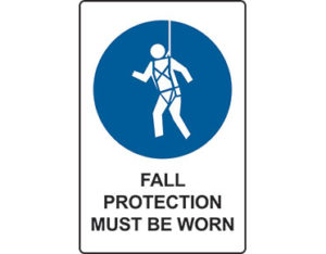 Fall protection sign by Australian Standards from Global Spill Control