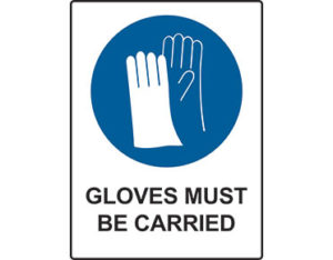 Gloves mandatory sign by Australian Standards - Global Spill Control