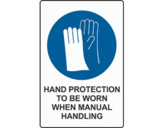 Hand protection mandatory sign from Global Spill Control