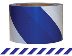 Striped barrier tape - blue and white striped barrier tape