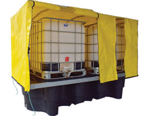 Double IBC cover with frame