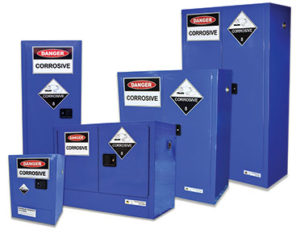 Safety cabinets - corrosive substances