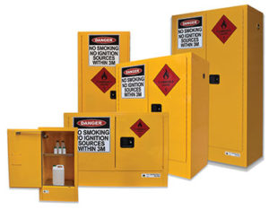 Safety cabinets - flammable liquids