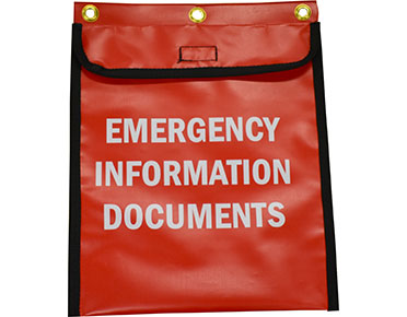 Emergency information pouch