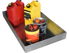 Metal drip and spill trays