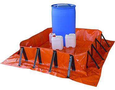 Standard duty collapsible bund 1.6m x 1.6m