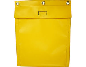Document pouch - yellow PVC