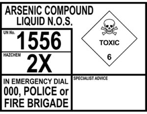 Arsenic compound liquid N.O.S.