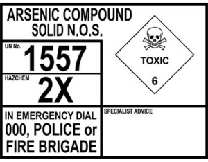 Arsenic compound solid