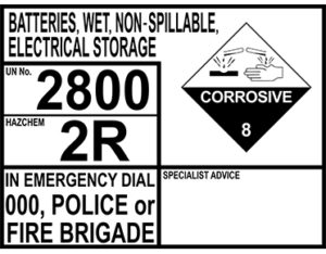 Corrosive emergency information panel