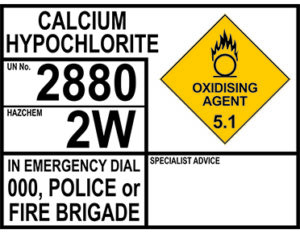 Calcium hypochlorite emergency information panels